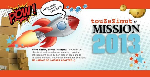 notre carte de voeux 2013 : un peu ... azimutee !