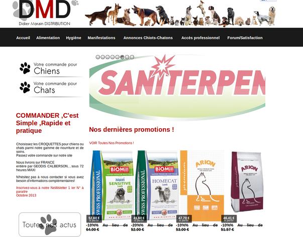 dmd22 propose vos aliments pour chiens et chats en promo sur votre lieu de vacances !
